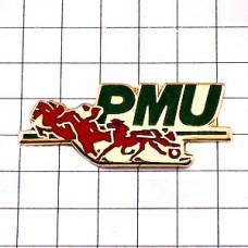 ピンズ・競馬レース赤い馬
