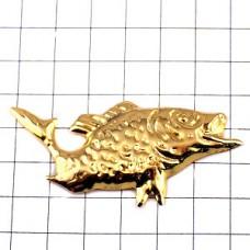 ピンズ・金色ゴールドの魚