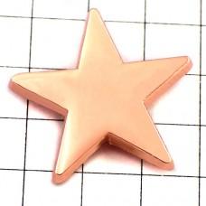 ピンバッジ・New!コパーピンク色に光るスター星