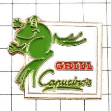 ピンバッジ・緑色のカエル蛙