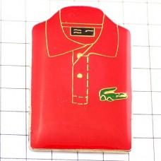 ピンバッジ・ラコステ赤ポロシャツ服