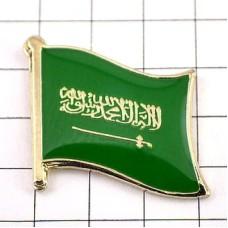 ピンズ・New!サウジアラビア国旗デラックス薄型キャッチ付き剣アラビア語