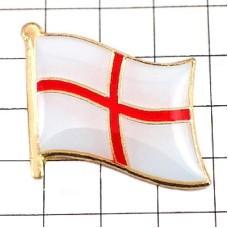 ピンズ・New!イングランド国旗デラックス薄型キャッチ付きイギリス英国