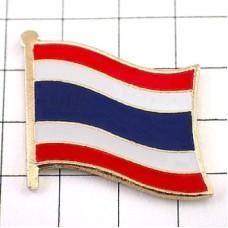 ピンズ・New!タイ国旗デラックス薄型キャッチ付き