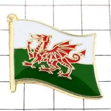 ピンズ・New!ウェールズ国旗デラックス薄型キャッチ付きイギリス英国