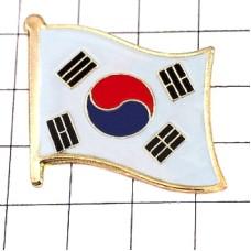 ピンズ・New!韓国国旗デラックス薄型キャッチ付き大韓民国