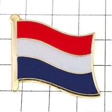 ピンズ・New!オランダ国旗デラックス薄型キャッチ付き蘭国