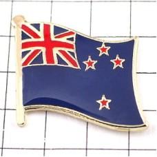 ピンズ・New!ニュージーランド国旗デラックス薄型キャッチ付き南十字星