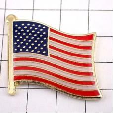 ピンズ・New!アメリカ星条旗/USA国旗デラックス薄型キャッチ付き