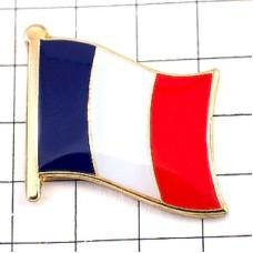 ピンズ・New!フランス国旗デラックス薄型キャッチ付トリコロール青白赤