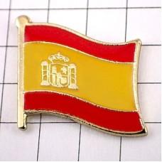 ピンズ・New!スペイン国旗ヘラクレスの柱デラックス薄型キャッチ付き西国