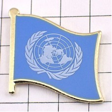 ピンズ・New!国連UN国際連合の旗デラックス薄型キャッチ付きタイタック