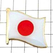 ピンズ・New!日本の国旗日の丸日章旗デラックス薄型キャッチ付き日の丸日章旗