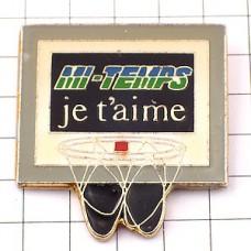 ピンバッジ・バスケットボールのゴール網