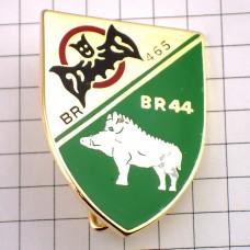 ブローチ・イノシシやコウモリ紋章ミリタリーフランス軍