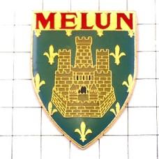 ピンバッジ・お城と百合の紋章