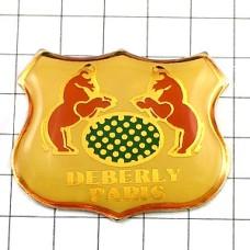 ピンバッジ・パリ牛のマーク革製品