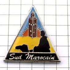 ピンズ・モロッコのモスク駱駝ラクダ三角