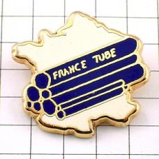 ピンズ・フランスのチューブ白い地図型