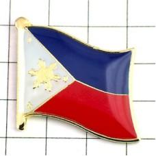 ピンズ・New!フィリピン国旗デラックス薄型キャッチ付き太陽