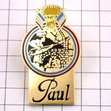 ピンバッジ・ポール国旗パン屋さんトリコロール窯入れ