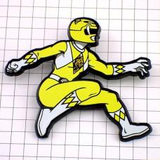 ピンズ・黄色パワーレンジャー特撮スーパー戦隊