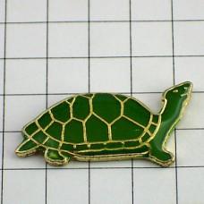 ピンズ・ミドリガメ緑色の亀