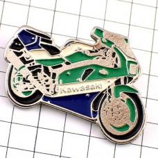 ピンズ・カワサキ二輪バイク青緑