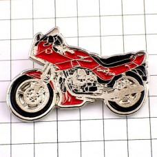 ピンズ・モトグッチ二輪バイク赤