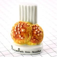 フェーブ・お砂糖付ブリオッシュお菓子パティシエ帽子