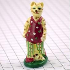 フェブ・水玉の服のネコ猫