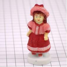 フェブ・赤いドレスのフランス人形おもちゃ