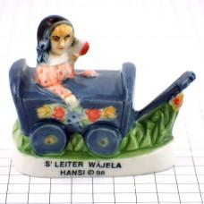フェブ・ハンジ画アルザス女の子と木の車