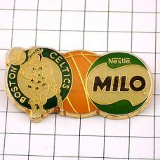ピンバッジ・ミロ飲物ボストンセルティックス球バスケットボール