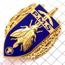 ブローチ・蜂と剣の紋章ミリタリーフランス軍