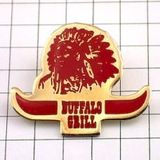 ピンズ・バッファローグリル赤インディアン戦士