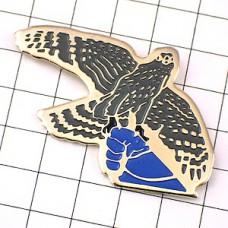 ピンズ・狩猟ハンティング手の上のワシ鷲