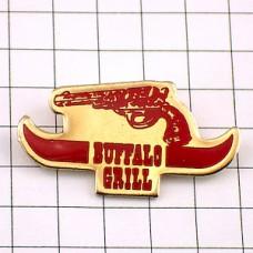 ピンズ・バッファローグリル拳銃ピストル牛の角