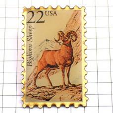 ピンズ・野生の山羊アメリカ切手型