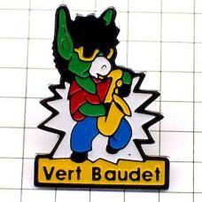 ピンズ・音楽楽器サックス奏者のロバ驢馬