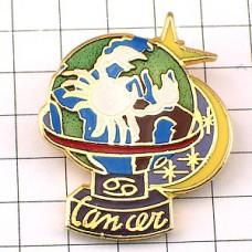 ピンズ・星占い蟹座かに座スター地球