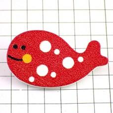 ピンズ・New!鯨クジラ木製