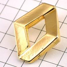 ピンズ・ルノー車ゴールド色ロゴ型