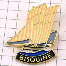 ピンバッジ・ボート帆船ビスキーヌ56