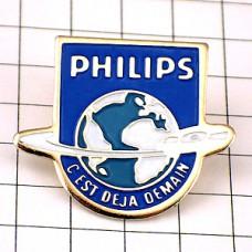 ピンバッジ・フィリップスCDと地球