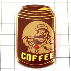 ピンズ・缶とコーヒーを飲む親父
