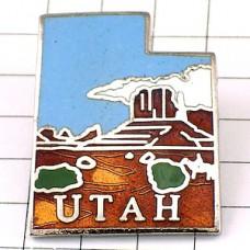 ピンバッジ・ユタ州アメリカ合衆国/USA地図型