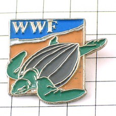 ピンバッジ・海亀カメWWF世界自然保護基金