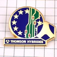 ピンバッジ・ユーロ欧州連合EUの旗トムソン社