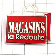 ピンバッジ・赤いショッピング袋